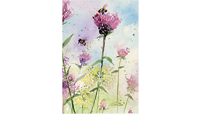 Thistles And Bees 3