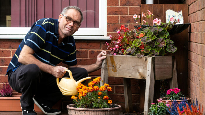 Stephen's routine had been disrupted, so his Carers built him a new one.