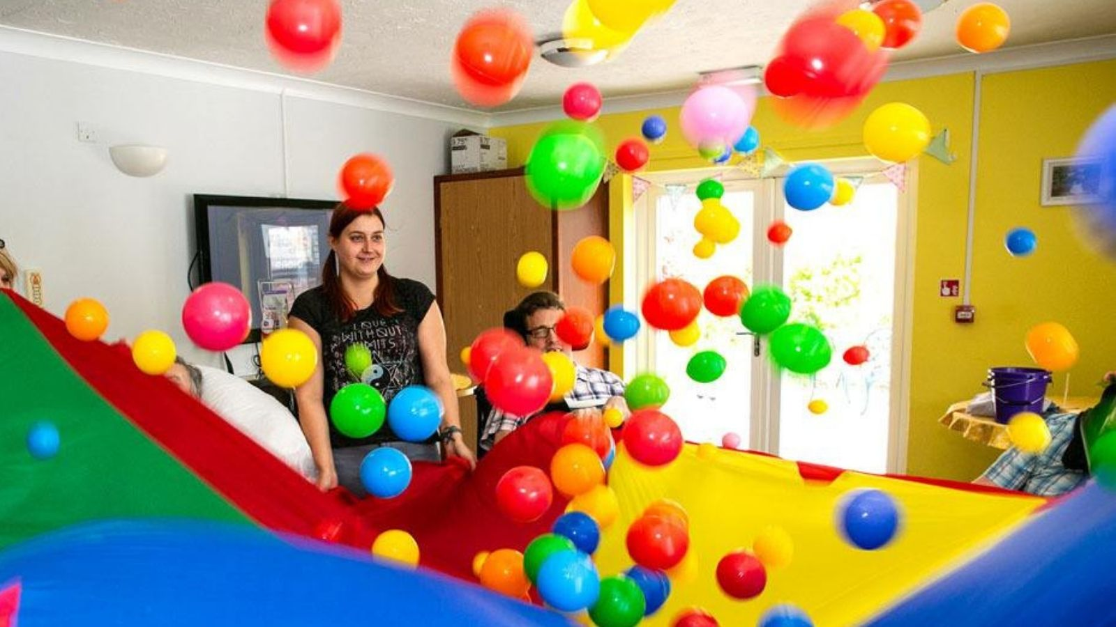People we support, Livability Treetops - bouncing balls activity